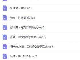 华语浪漫表白撩妹歌集