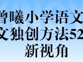 (曾曦)小学语文作文独创方法52新视角