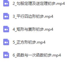 2019初二曹笑数学寒假培优班(人教版)