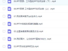 教你零基础做出高逼格PPT【无水印】1.24GB
