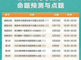 【背水一战】2020高考显哥数学命题预测与点题(完结)