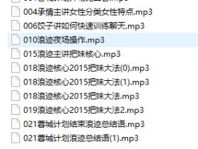 蓉城计划音频课集锦